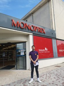 En la empresa Monoprix.