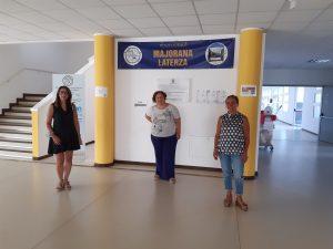 Con la directora del Liceo Majorana-Laterza, Daniela Menga