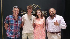 Con Fernando Berroteran en la empresa Sky States and Co Ltda